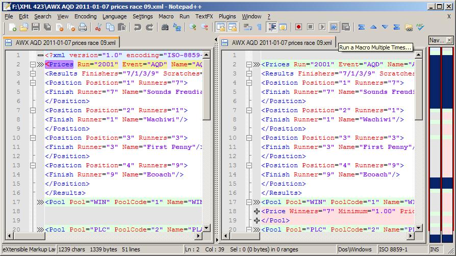 Come confrontare 2 file di testo con Notepad++