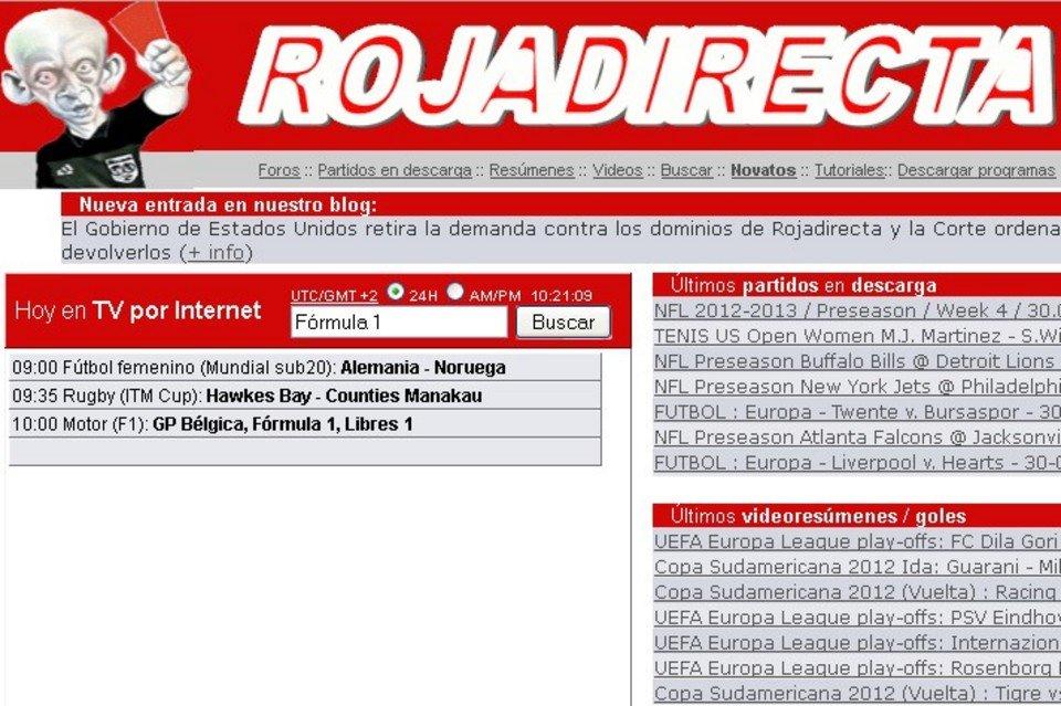 Come entrare sul sito Rojadirecta bloccato in Italia link