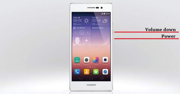 Come salvare screenshot su smartphone Huawei