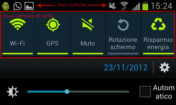 area notifiche