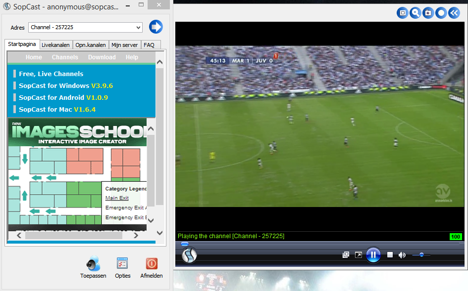 sopcast calcio