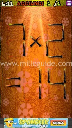 Soluzioni Rompicapi con i fiammiferi Livello 11