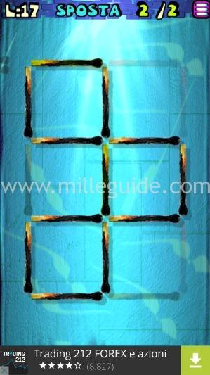 Soluzioni Rompicapi con i fiammiferi Livello 17