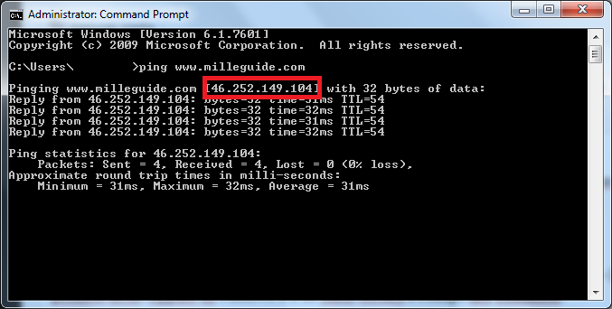 Come scoprirenindirizzo IP di un sito web