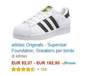 Scarpe Adidas a prezzi stracciati su Amazon!