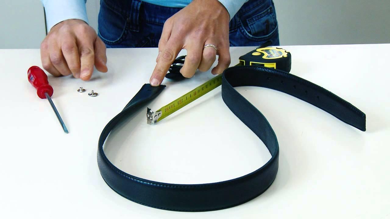 Come accorciare correttamente una cintura senza rovinarla