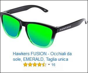 Hawkers FUSION - Occhiali da sole, EMERALD, Taglia unica