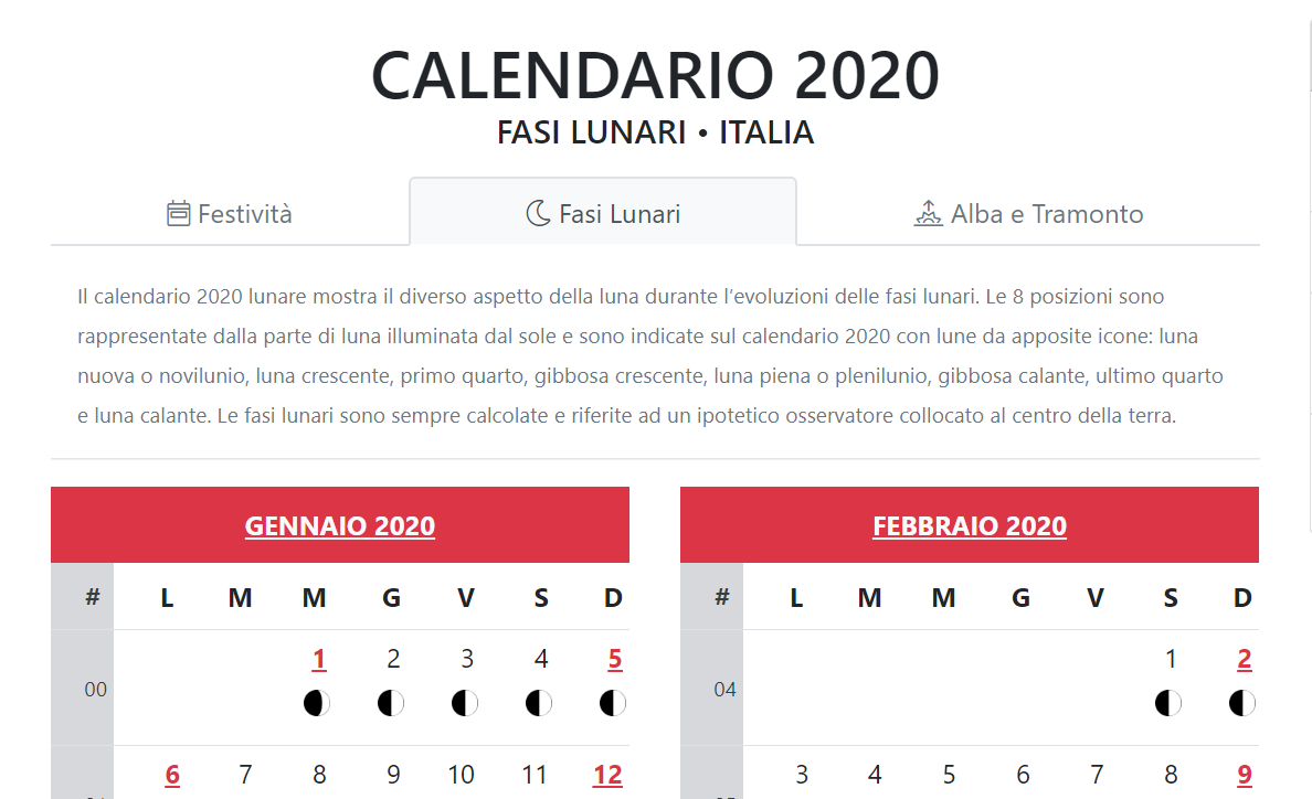 Calendario Gregoriano 2020.Come Monitorare Le Fasi Lunari 2020 Con Un Calendario Digitale