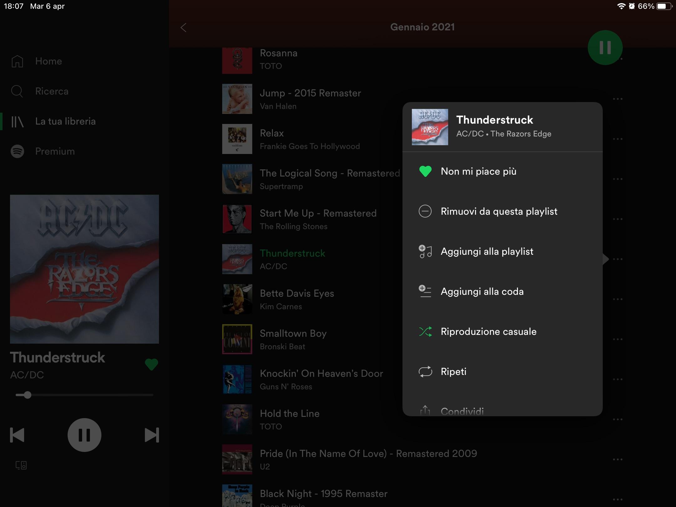 Spotify: come avviare la riproduzione casuale su Apple iPad